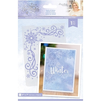 Crafter's Companion TOUCH OF WINTER Embossing Folder sgsef5towi