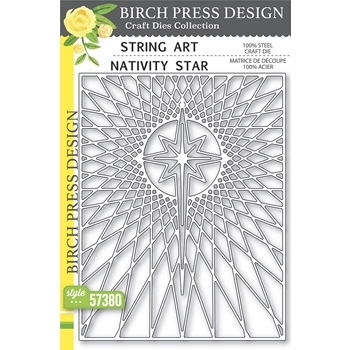 Birch Press Design STRING ART NATIVITY STAR Craft Dies 57380