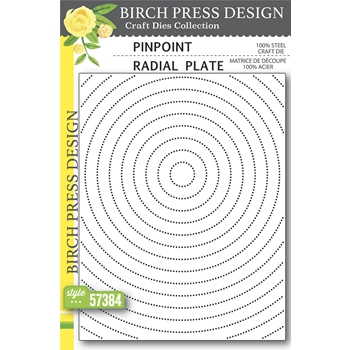 Birch Press Design PINPOINT RADIAL PLATE Craft Die 57384