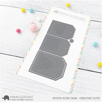 Mama Elephant STITCHED ICON TAGS Creative Cuts Steel Dies