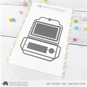 Mama Elephant GIFT POCKET TAG Creative Cuts Steel Dies