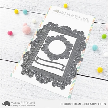 Mama Elephant FLURRY FRAMES Creative Cuts Steel Dies