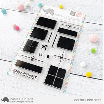 Mama Elephant Clear Stamps COLORBLOCK GIFTS