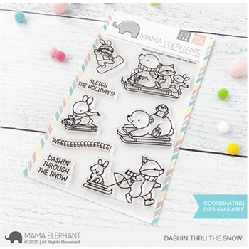 Mama Elephant Clear Stamps DASHIN THRU THE SNOW