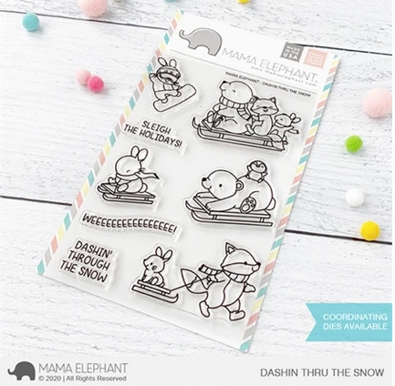 Mama Elephant Clear Stamps DASHIN THRU THE SNOW  zoom image