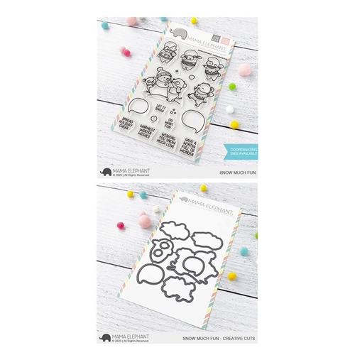 Mama Elephant Clear Stamp and Die MEPT852 Snow Much Fun SET Preview Image