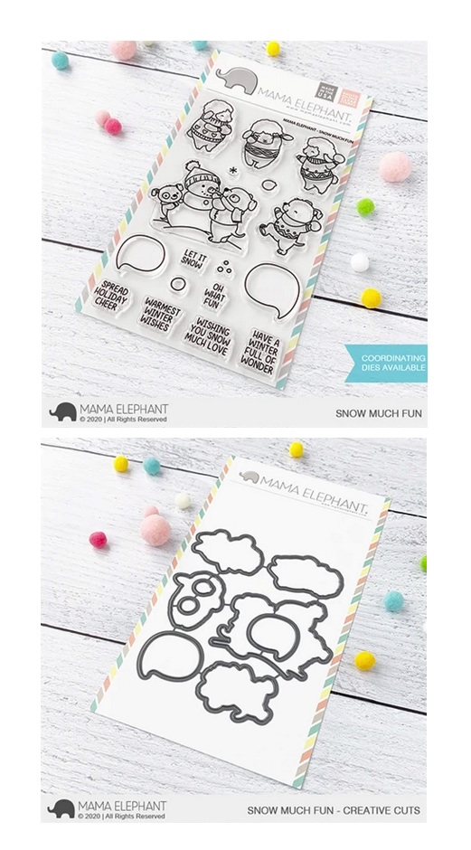 Mama Elephant Clear Stamp and Die MEPT852 Snow Much Fun SET zoom image