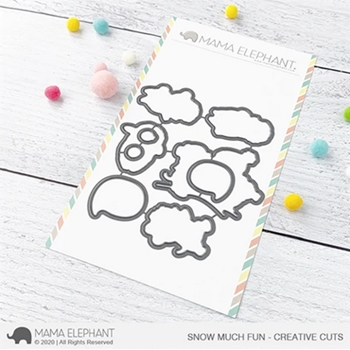 Mama Elephant SNOW MUCH FUN Creative Cuts Steel Dies