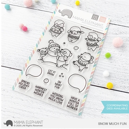 Mama Elephant Clear Stamps SNOW MUCH FUN Preview Image