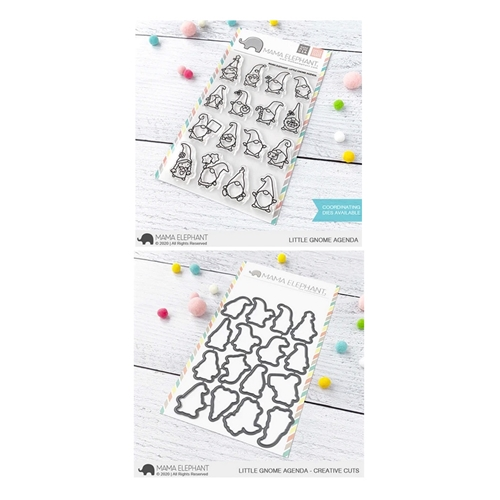 Mama Elephant Clear Stamp and Die MEPT855 Little Gnome Agenda SET Preview Image