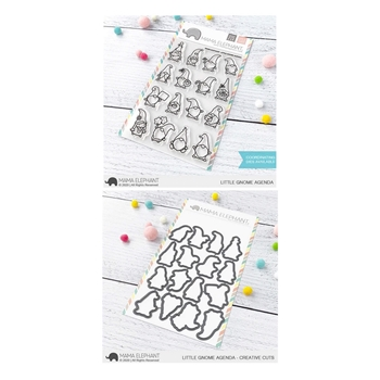 Mama Elephant Clear Stamp and Die MEPT855 Little Gnome Agenda SET