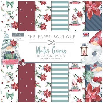 Paper Boutique WINTER GNOMES 8x8 Paper Pack pb1398*