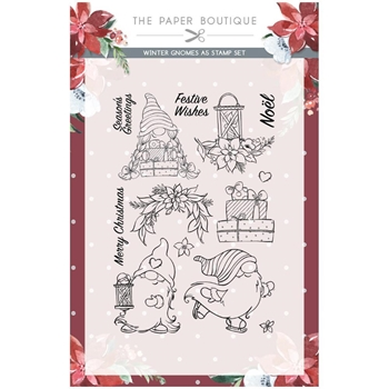 Paper Boutique WINTER GNOMES Clear Stamps pb1402*
