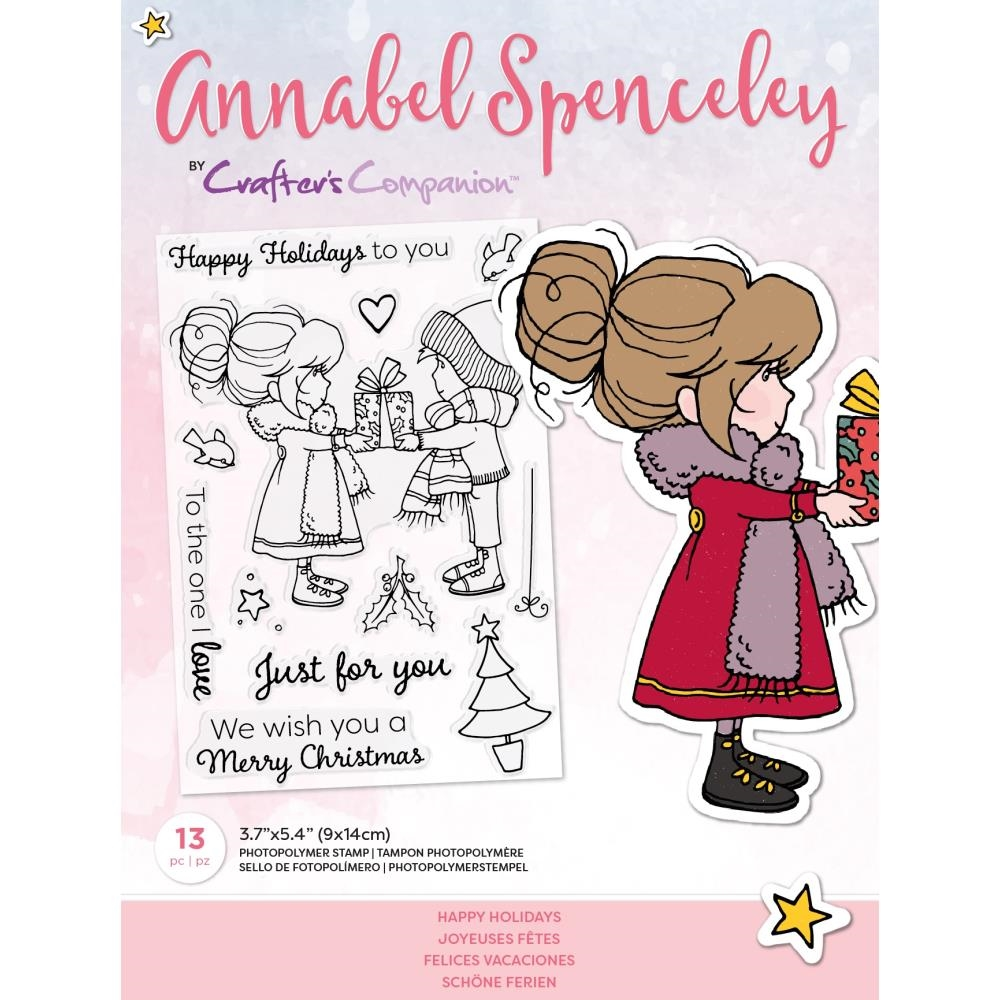 Crafter's Companion HAPPY HOLIDAYS Clear Stamp Set asstphapays* zoom image