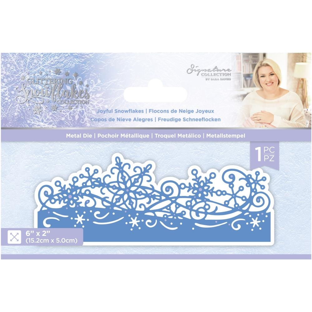 Crafter's Companion JOYFUL SNOWFLAKES Die Set sgsmdjosn zoom image