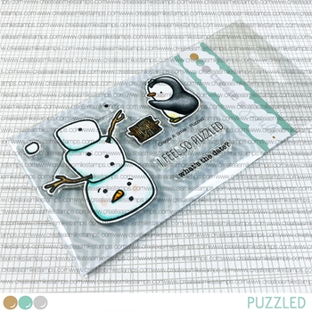 Create A Smile PUZZLED Clear Stamps clcs161