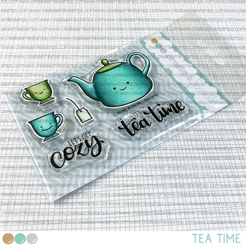 Create A Smile TEA TIME Clear Stamps clcs162