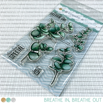 Create A Smile BREATHE IN, BREATHE OUT Clear Stamps clcs158