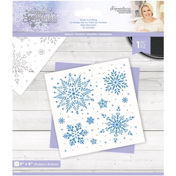 Crafter's Companion SNOW IS FALLING Stencil sgsstensnfa