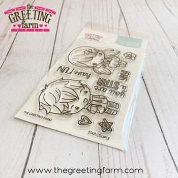 The Greeting Farm STAR COUPLE Clear Stamps tgf569