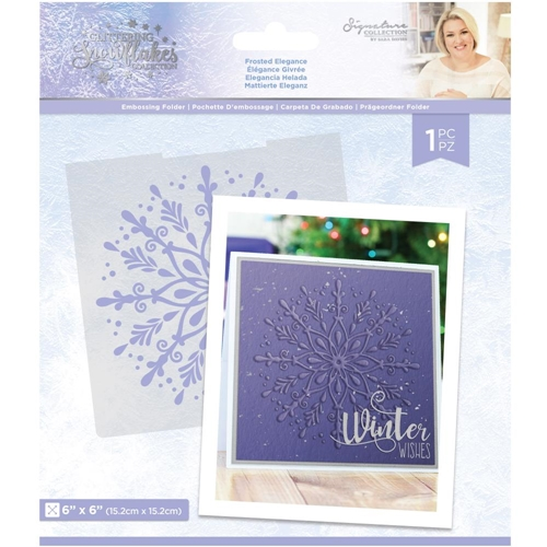 Crafter's Companion FROSTED ELEGANCE Embossing Folder sgsef6frel Preview Image