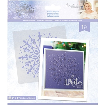 Crafter's Companion FROSTED ELEGANCE Embossing Folder sgsef6frel