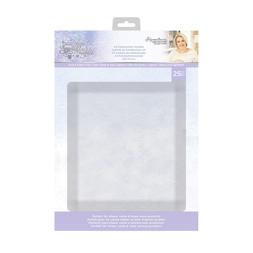 Crafter's Companion GLITTERING SNOWFLAKES A4 Construction Acetate sgsca Preview Image