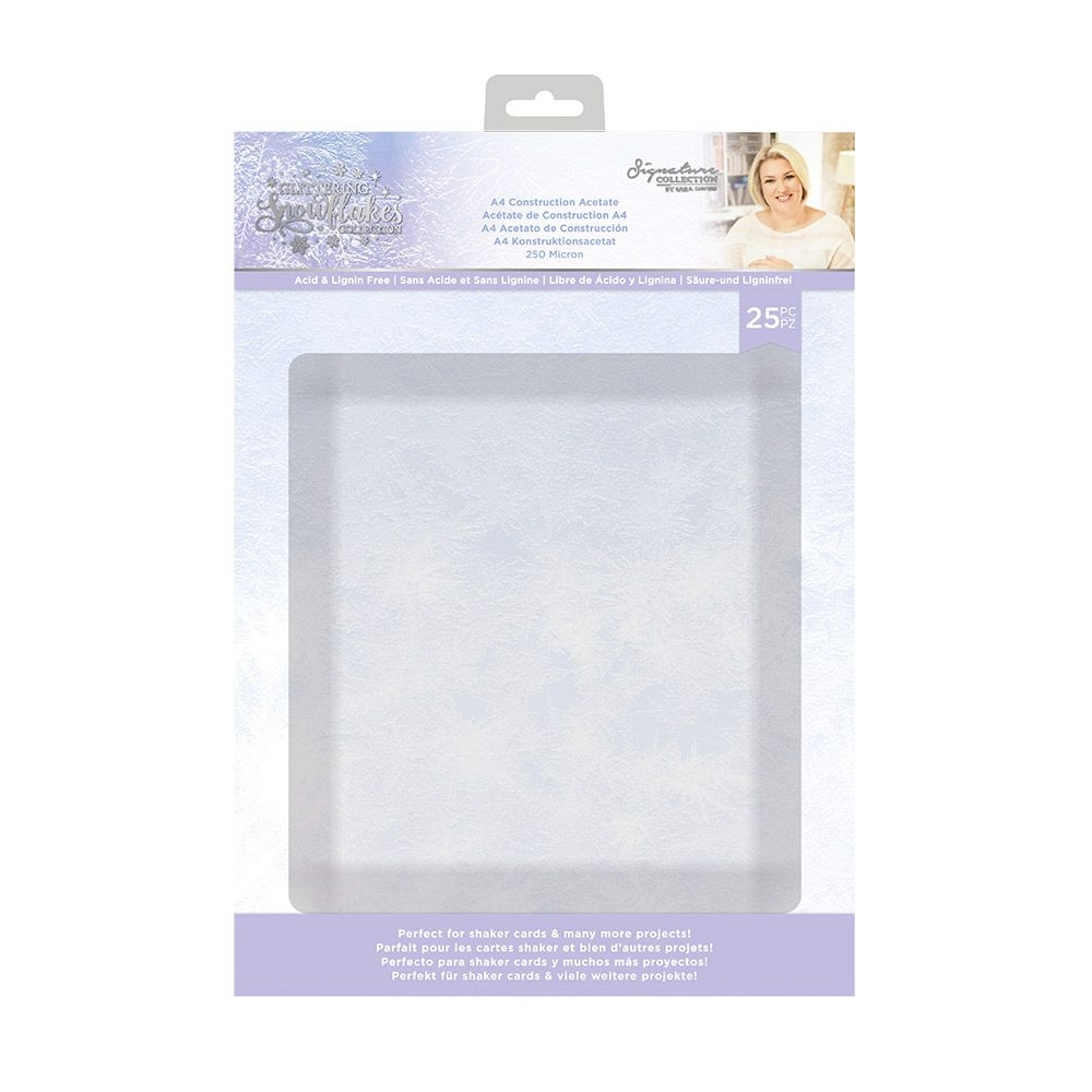 Crafter's Companion GLITTERING SNOWFLAKES A4 Construction Acetate sgsca zoom image