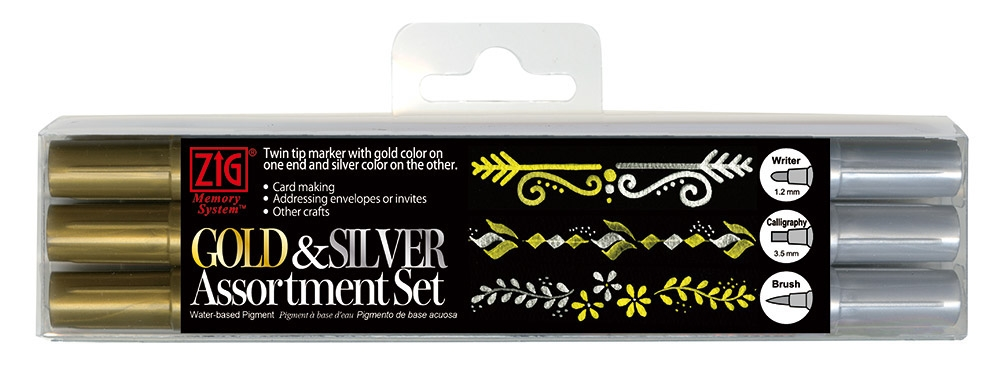 Zig Memory System GOLD AND SILVER Marker Assortment Set 9297 zoom image