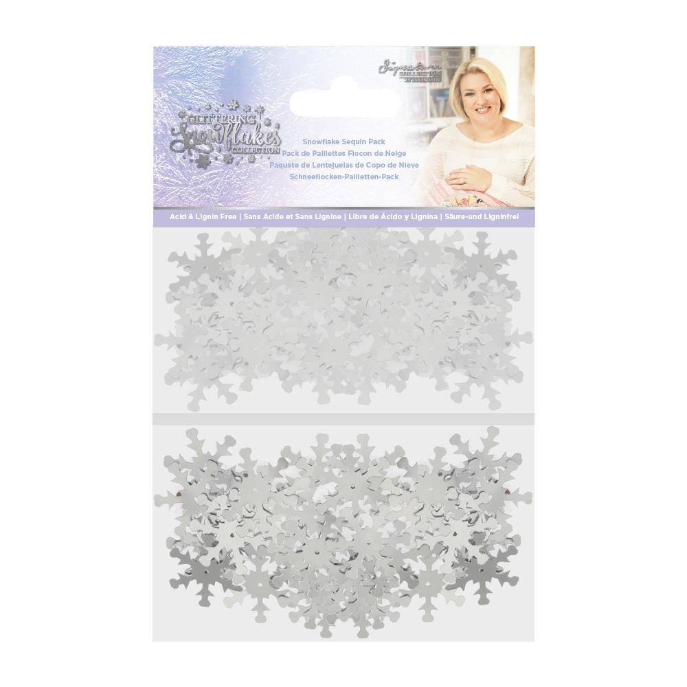 Crafter's Companion SNOWFLAKE Sequin Pack sgssnseq* zoom image