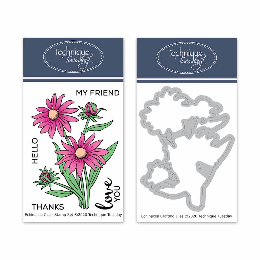 Technique Tuesday ECHINACEA FLOWERS Clear Stamps and Dies 8636 zoom image