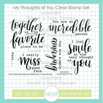 Sweet 'N Sassy MY THOUGHTS OF YOU Clear Stamp Set sns20057