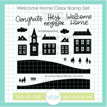 Sweet 'N Sassy WELCOME HOME Clear Stamp Set sns20058