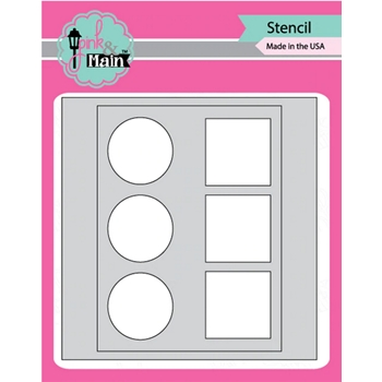 Pink and Main MASK IT IN LINE Stencil PMS038