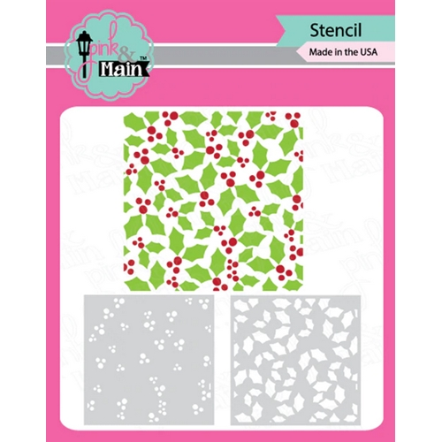 Pink and Main HOLLY LAYER Set of 2 Stencils PMS040 Preview Image