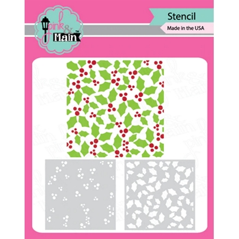 Pink and Main HOLLY LAYER Set of 2 Stencils PMS040