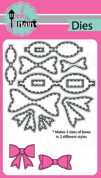 Pink and Main STITCHED BOWS Dies PNM304 zoom image