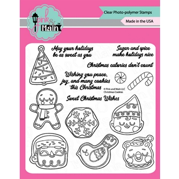 Pink and Main CHRISTMAS COOKIES Clear Stamps PM0427