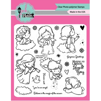 Pink and Main LITTLE ANGELS Clear Stamps PM0429