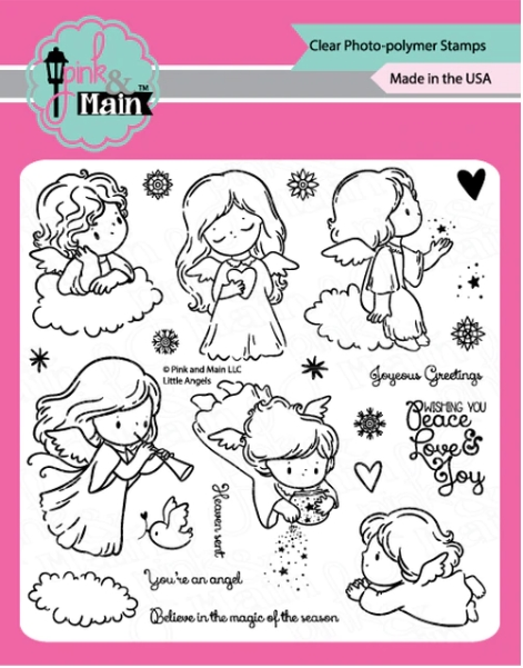 Pink and Main LITTLE ANGELS Clear Stamps PM0429 zoom image