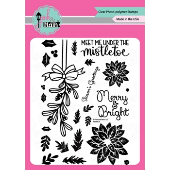 Pink and Main MISTLETOE Clear Stamps PM0430