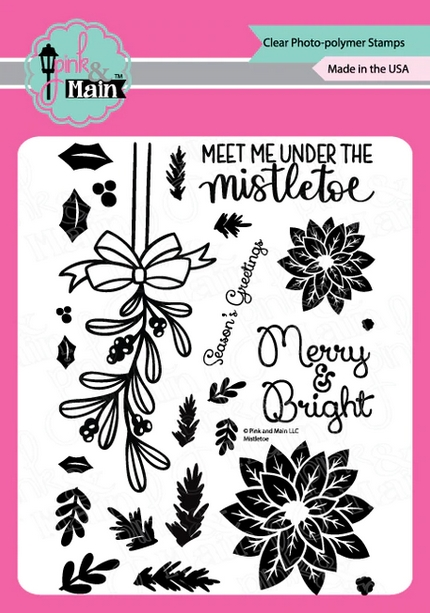 Pink and Main MISTLETOE Clear Stamps PM0430 zoom image