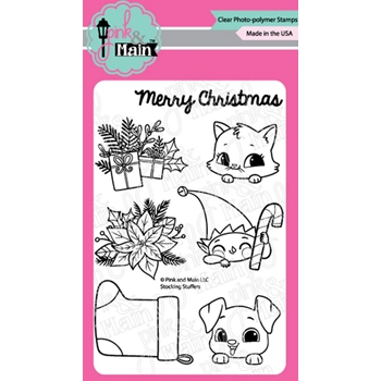 Pink and Main STOCKING STUFFERS Clear Stamps PM0417