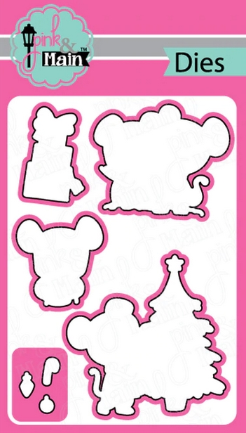 Pink and Main CHRISTMOUSE Dies PNM299 zoom image