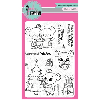 Pink and Main CHRISTMOUSE Clear Stamps PM0428