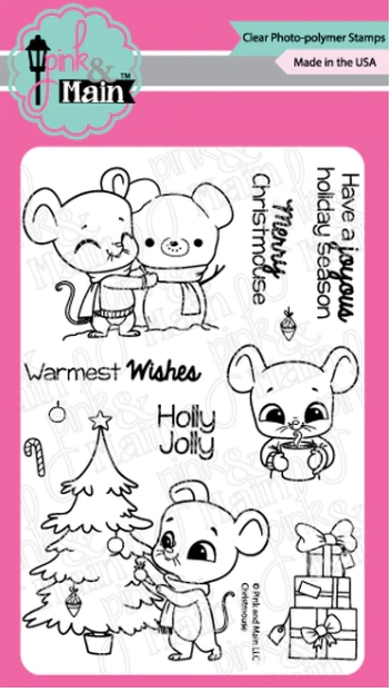 Pink and Main CHRISTMOUSE Clear Stamps PM0428 zoom image