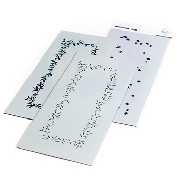 RESERVE PinkFresh Studio INCREDIBLY GRATEFUL Stencil Set pfsst3420