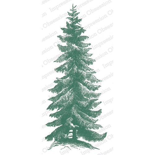 Impression Obsession Cling Stamp NORWAY SPRUCE 3234 LG Preview Image