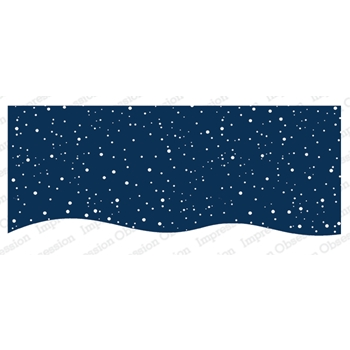 Impression Obsession Cling Stamp SNOWY NIGHT 3235 LG