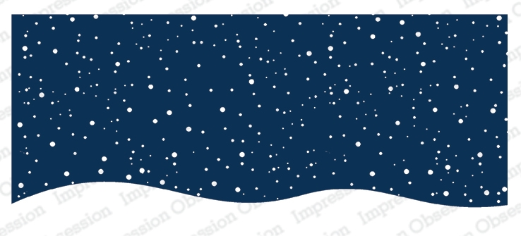 Impression Obsession Cling Stamp SNOWY NIGHT 3235 LG zoom image